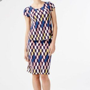Boden Geometric  Arrow Double Layer Dress WH936